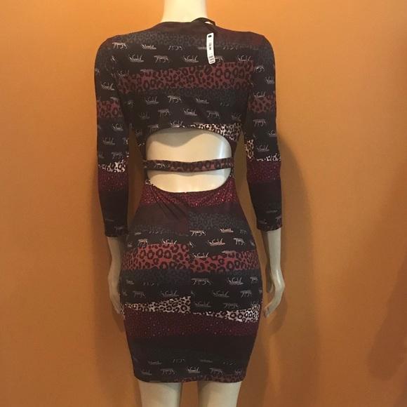 7184166289 Rare Victoria Secret Animal Patchwork Print Dress